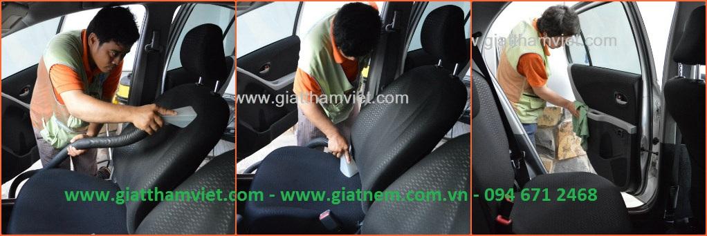 Quy trình vệ sinh nội thất xe hơi